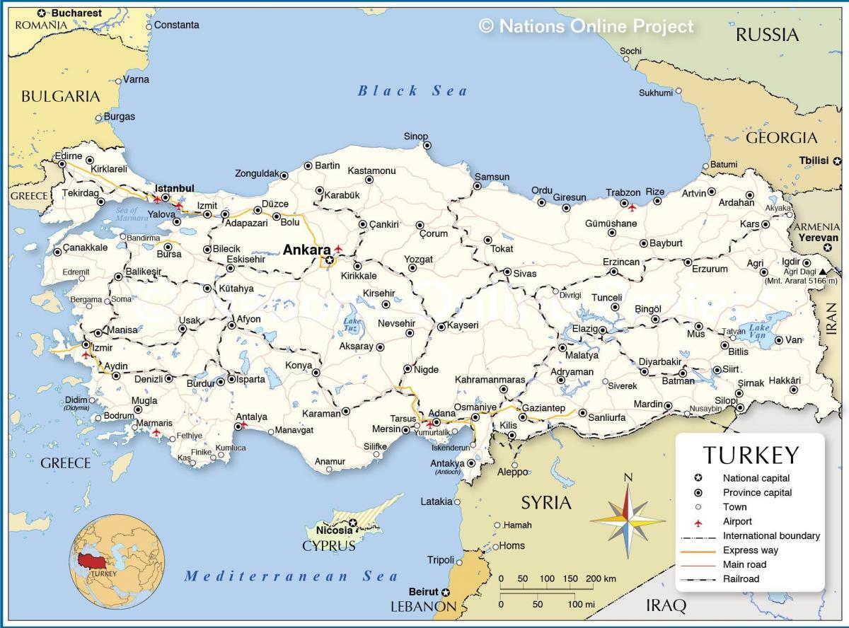 kart over tyrkia Kart over Tyrkia og omkringliggende land   landet Tyrkia kart  kart over tyrkia