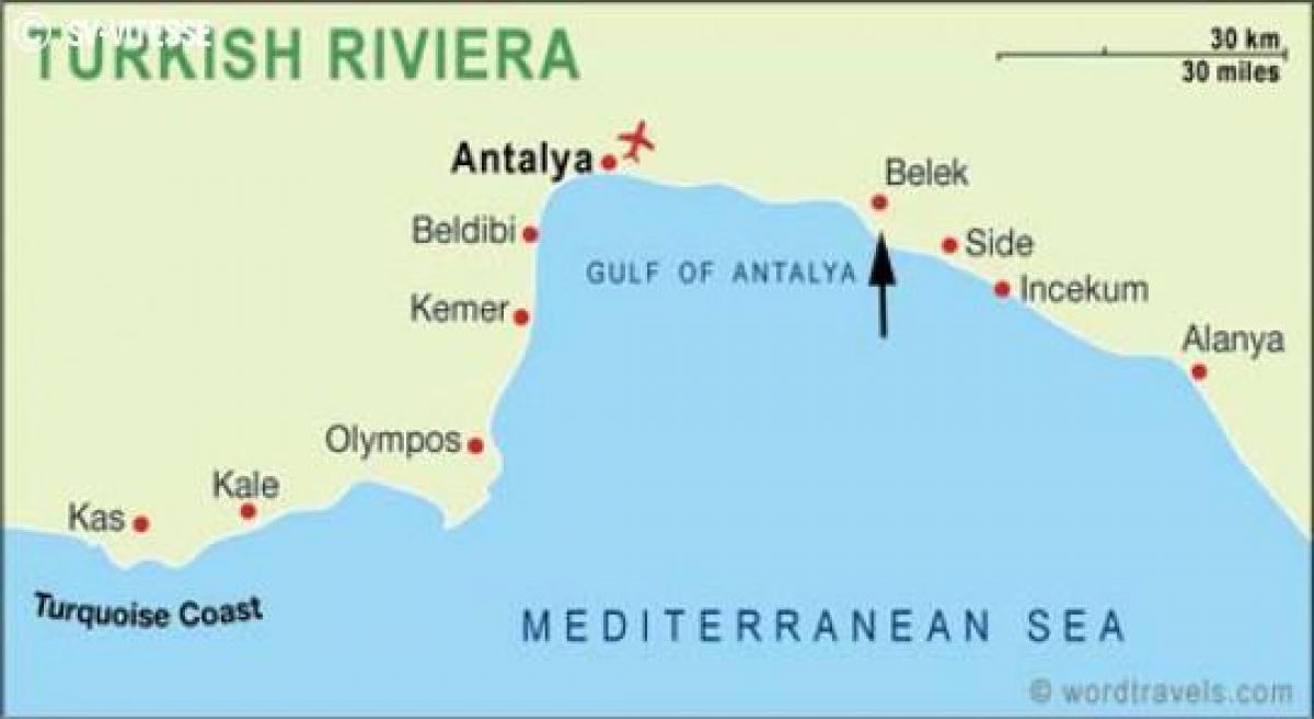 izmir tyrkia kart Side, Tyrkia kart   Kart Tyrkia side (Vest Asia   Asia) izmir tyrkia kart